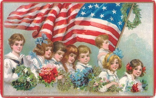 vintage-american-flag-children4