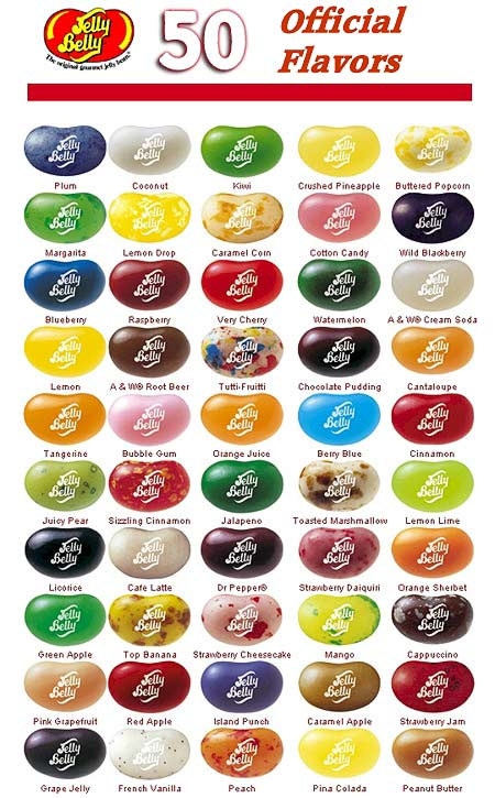 Jelly belly flavor guide blue cotton memory