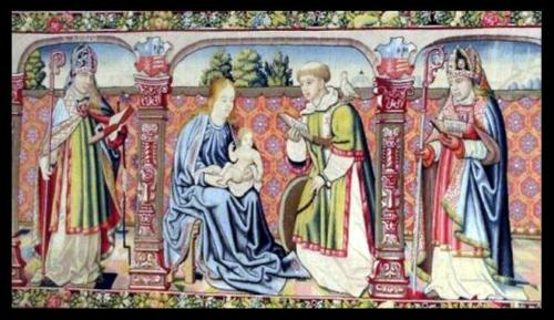 16th Century Tapestry photographed by Blue Cotton Memory in Turin, Italy
